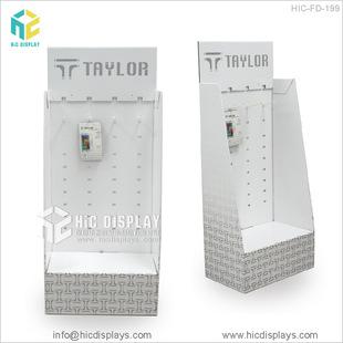 供应车载充电器纸货架手机扣展示架手机壳膜货架免费设计可定制