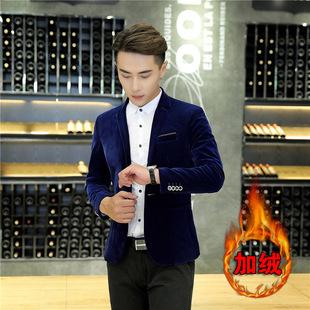 xidan高端春秋男士灯芯绒小西装韩版商务修身青年休闲西服男装加