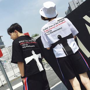 корейский отпечатки 2017 летом любовников мужчин и женщин колет @ C233-1171-P35 футболку