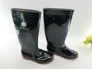 上海坚固高筒耐磨防滑劳保工矿靴男式雨鞋耐黑加布、加棉保暖雨靴