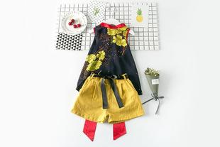 童套装2017夏季新款韩版女童时尚套装中小童两件套8112