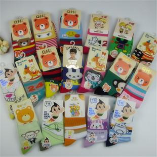 四季儿童袜 新款全棉卡通袜独立包装学生中筒袜 礼盒儿童袜子批发