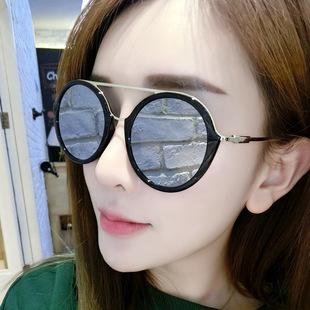 墨镜女潮韩国优雅司机明星款眼镜新款个性太阳镜女士圆脸眼睛3655