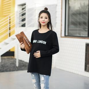 модный корейский темперамент футболки буквы послабления материнства весной 2017 года
