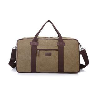 新款单肩包男旅行帆布枕头包斜跨行李箱包手提旅行袋批发一件代发