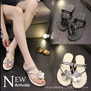 Г - жа оптовой 2017 новый летний сандалии женщин, корейский палец два обувь крытый и открытый шлепки женские туфли