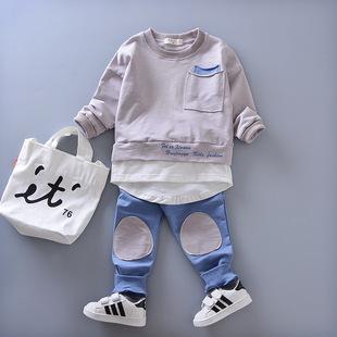 2017新款韩版童装男童运动套装两件套中小童宝宝时尚卫衣休闲春秋