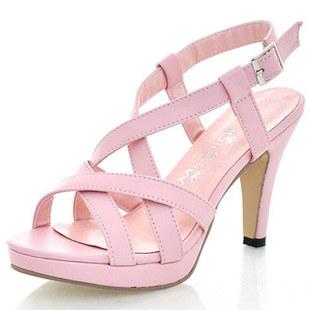 鞋子女鞋2017夏季新款 罗马凉鞋女高跟大尺寸61-1