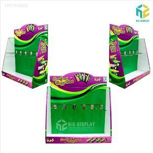 零食试吃盒陈列架超市促销桌面小展架糖果PDQ展示盒定做