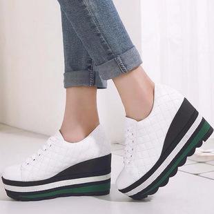 批发时尚单鞋真皮短靴女韩版马丁靴牛皮踝靴女靴子欧美深口鞋厚底