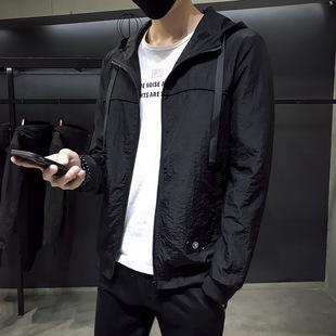 2018 весной slim капюшон куртки мужчины, личности маркировки тенденция корейских мужской пиджак чистый скафандр