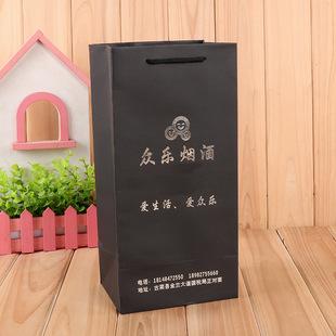 портативный 黑卡 бумажный пакет золочение творческих вино упаковка мешок подарков вино настройки дизайна логотипа сумку бесплатно