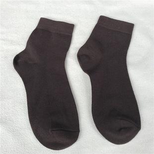 春夏薄款纯色男女袜子吸汗无骨单色纯棉成人袜厂家批发价