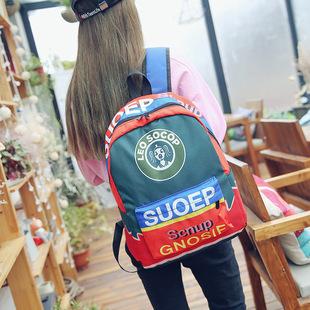 2018新款喷绘泡泡糖酒瓶双肩包7色可爱卡通学生书包一件代发