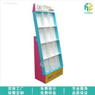 厂家生产杂志书本展示架文具教学类纸货架落地式十二格纸板展架
