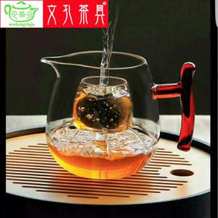 厂家直销高硼硅玻璃茶具 带漏红把煮茶壶 新款煮茶茶具批发