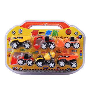 亲子企鹅母婴益智玩具回力工程车23130682多种颜色单套