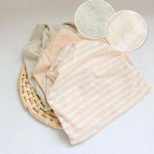 春夏春秋全棉产妇帽堆堆帽月子帽产后防风天然有机彩棉一件代发