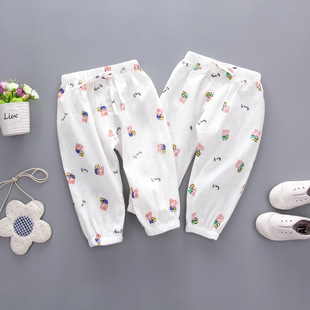 摩登节活动款 4604儿童宝宝社会人 棉麻 防蚊裤 不闷气又防蚊5.23