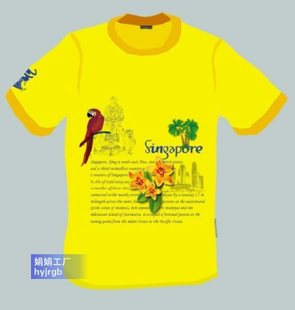 工厂纺织品印花圆领短袖t恤定做来图服装加工DIY文化衫做花