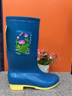 Г - жа шанхай иметь высокий ствол сапоги сухожилие сапоги женщин носить скольжения сапоги обувь резиновая обувь воды жемчужных сапоги