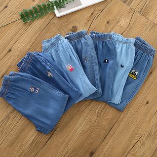 18夏季新款  天丝棉儿童洗水长裤 中小童牛仔休闲裤x94101