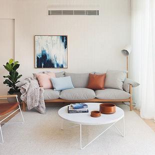 北欧布艺沙发设计师创意 现代沙发别墅样板房休闲羽绒乳胶沙发