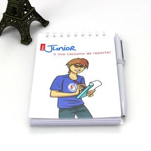 高档批发定制 学生卡通简约优质随身口袋记事线圈本带笔
