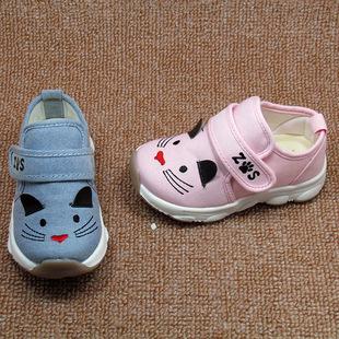 2018春季新品童鞋足圣宝宝鞋防滑软底婴儿鞋透气布面机能鞋学步