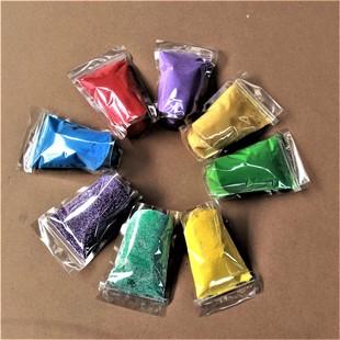 灵寿县伟祺矿产品加工厂生产染色彩砂25公斤一袋 沙画专用彩砂