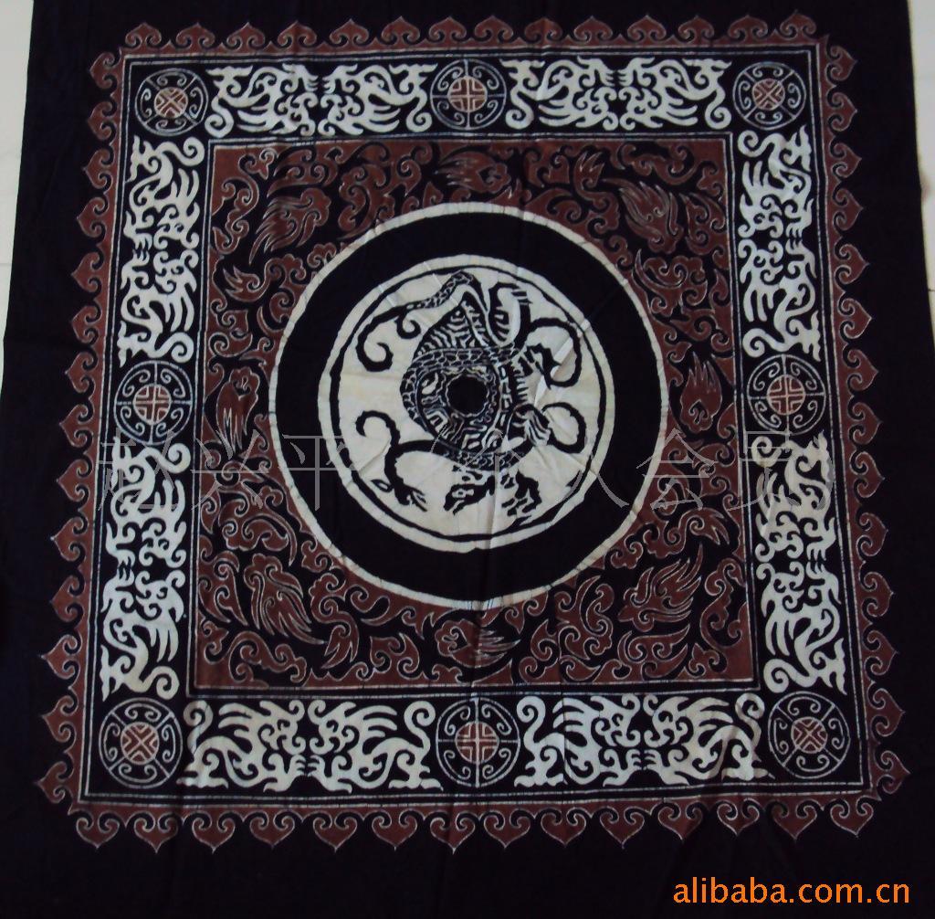 厂家生产批发安顺手工蜡染桌布蜡染壁画卷轴画蜡染画心