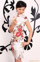 Summer 2012 women's cheongsam vintage chinese style faux silk sexy short design fashion improved cheongsam dress